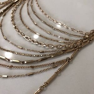 Anthropologie Jewelry - Layered Chain Tassel Necklace